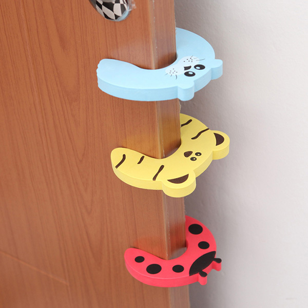 5 pcs/lot Child Kids Baby Cartoon Clip Door Card Safety Door Stopper Security Protector Free Shipping & Drop Shipping free shipping door stopper door holders for sale high suction