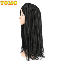 TOMO 12 14 16 18 20 22 22 Roots syntetyczne senegalski skręt włosy Crochet warkocze Crochet włosy Kanekalon Fiber plecionka tanie tanio W mieście kanekalon 22nitki opakowanie Senegalski twist Ombre