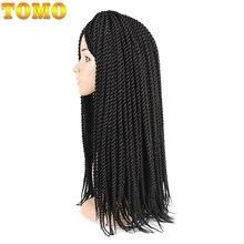 "TOMO 12"" 14"" 16"" 18"" 20"" 22"" 22 Roots Synthetic Senegalese Twist Hair Crochet Braids Crochet Hair Kanekalon Fiber Braiding"