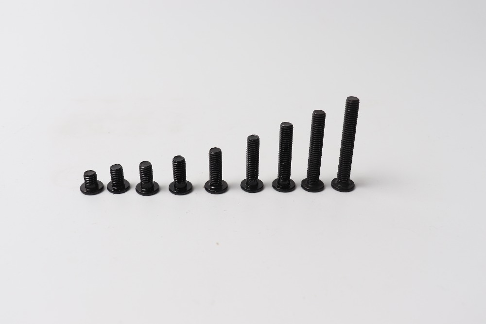 3D printer parts 20pcs M5 Low Profile Screws M5*6/8/10/12/15/20/25mm black color M5 Low Profile Screws