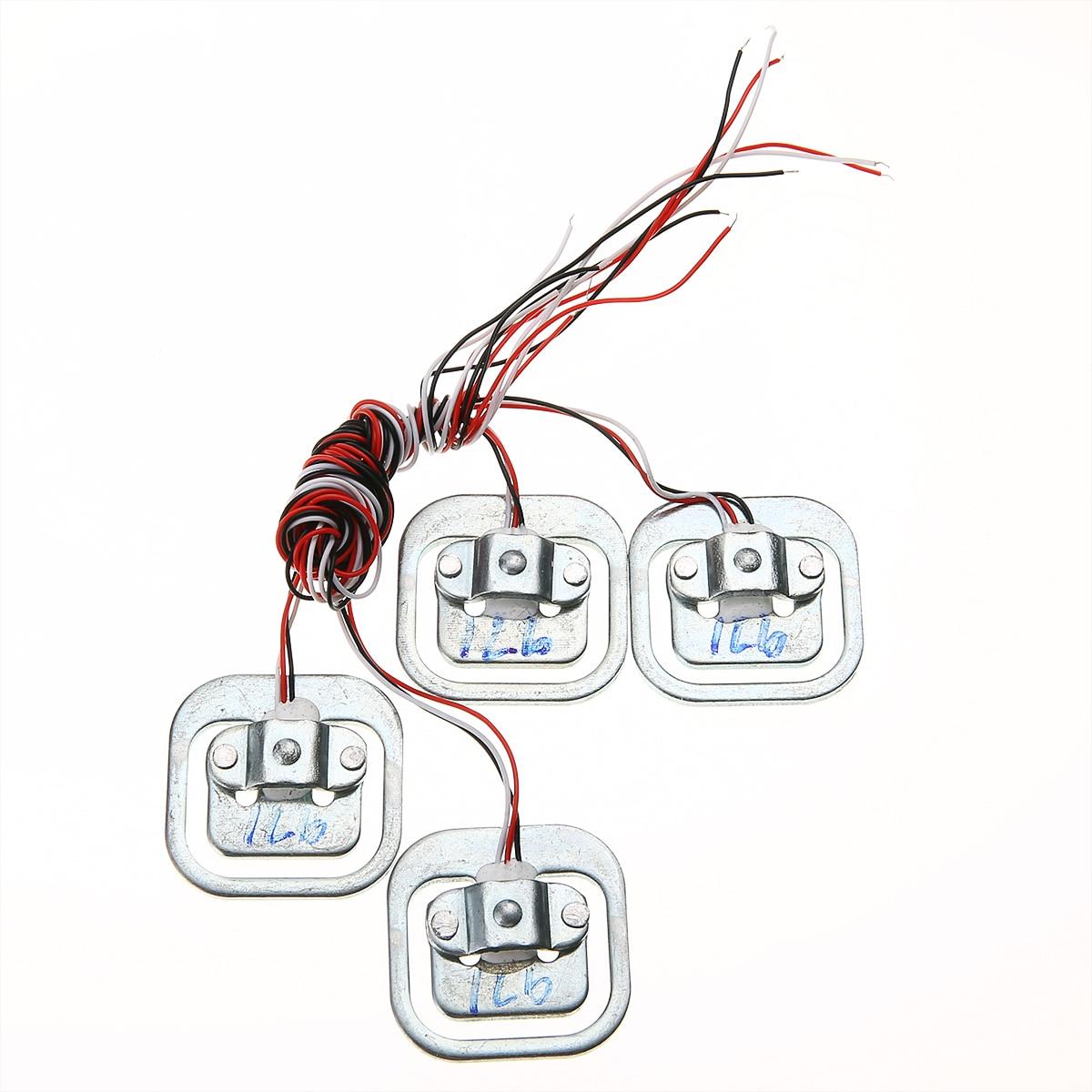 4pcs New Body Load Cell Weighing Sensor Resistance Strain Half-bridge Sensor 50kg