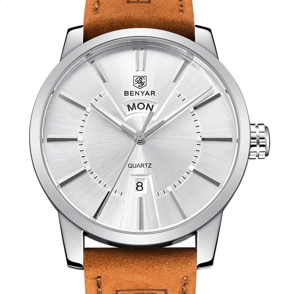 High Quality casual Business Men Watches Genuine Leather Analog Sports Watch Luxury Calendar Quartz Wristwatch Relogio Masculino high quality men s sports watch luxury