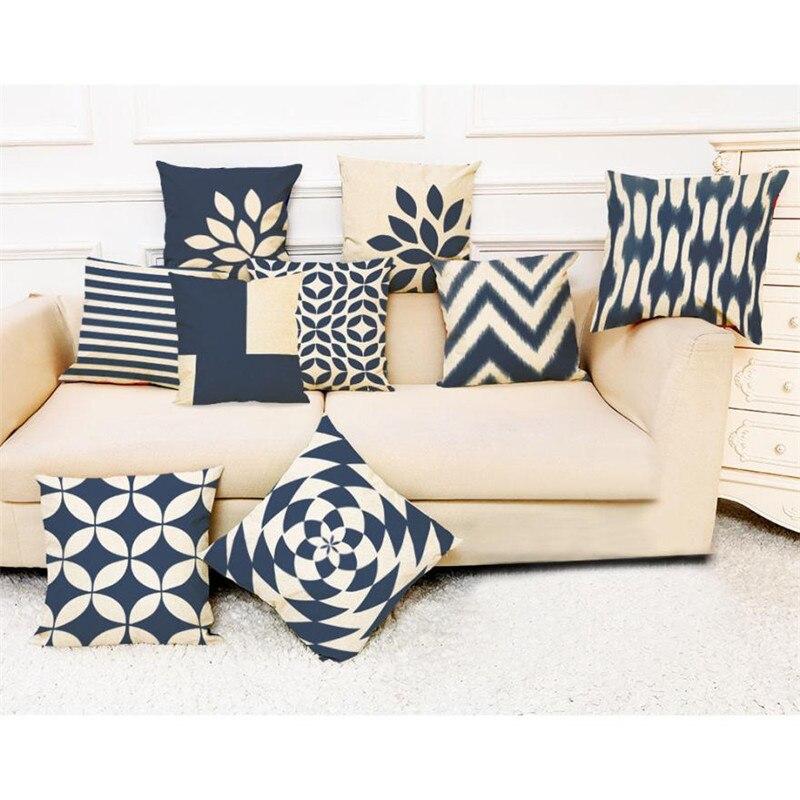 Наволочки декоративные подушки Home Decor темно-синий Стиль Бросьте наволочку Подушка для автомобиля диван x30330