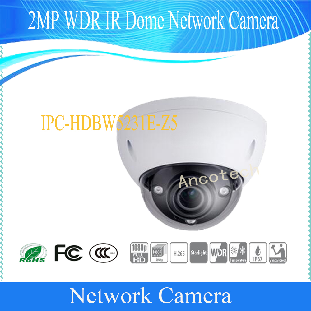 Free Shipping DAHUA Security IP Camera CCTV 2MP WDR IR Dome Network Camera IP67 IK10 With