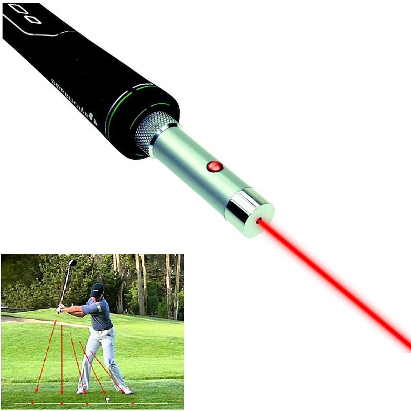 Golf Swing Corrector Laser Plane Trainer Golf Swing-Plane Training Aid Golf Pointer Laser Spot Direction title=