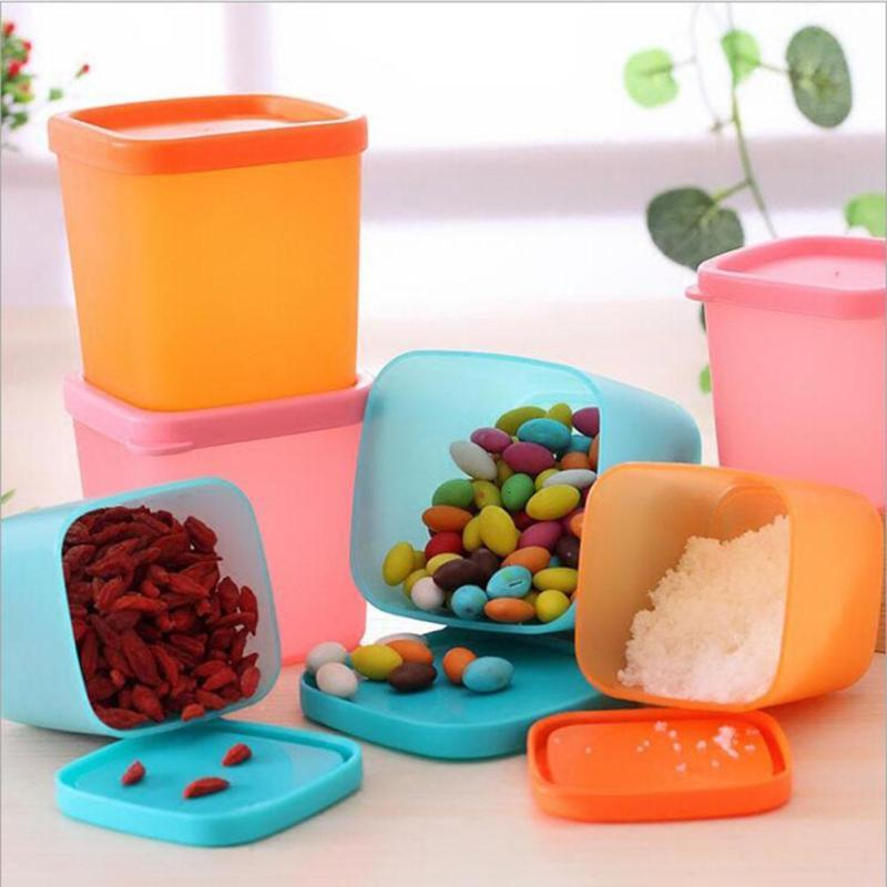 1pc Mini Multi-functional Sealed Refrigerator Crisper Plastic Box Bin Food Storage Preservation Boxes 230ml/380ml/750ml #20