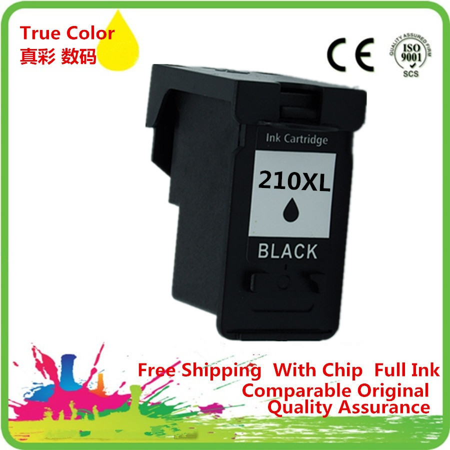 2 Bk Ink Cartridge Remanufactured For Canon PG 210 210XL PG210 PG210XL MP495 MX320 MX330 MX340 MX350 MX410 MX420 In Cartridges From