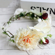 HIYONG New Style Floral Headbands Girls Wedding Flower Crown Hair Accessories Headband For Travel Garlands