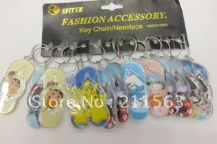 cute and fashion slippers model key chain
