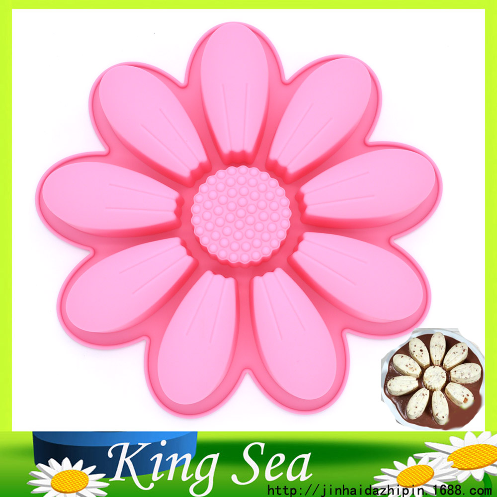 1PCS Large sunflower shape Muffin Candy Jelly Ice Silicone cake tools Moulds Mold Baking Pan Tray Bakeware,Ice Cream Maker