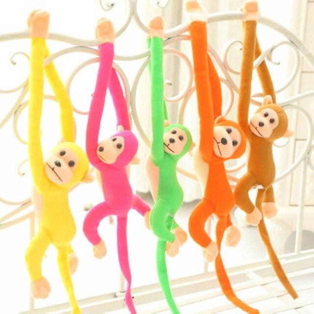 """60 ס""""מ יפה צעצוע הקטיפה קוף זרוע ארוכה, תלוי קוף ממולא בעלי חיים, קוף בובת צעצועי מתנה"""