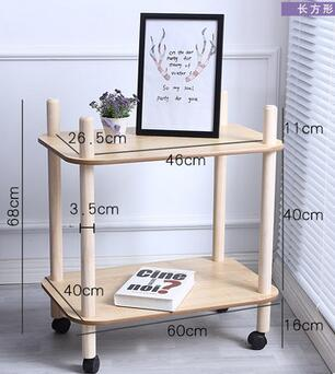 68*60*40CM Living Room Coffee Table Sofa Side Tea Table Kitchen Storage Rack Small Dining Cart With Wheels 60 40 66cm modern wood bedside table sofa side coffee table rectangle mobile corner table removable tea cart with wheels