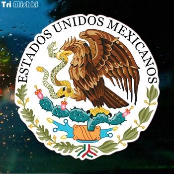 Tri Mishki WCS151 14x16cm Seal of the Government of Mexico car sticker funny colorful auto automobile decals image