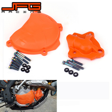 Motorcycle Clutch Guard Water Pump Cover Protector For KTM SXF EXCF XCF XCFW SX-F EXC-F XC-F XCF-W 250 FREERIDE 350 2014 2015 clutch cover protection cover water pump cover protector for ktm 350 exc f excf 2012 2013 2014 2015 2016