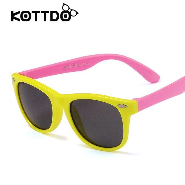 edca99806e TR90 Flexible Polarized Kids Sunglasses Children Safely Coating Sun Glasses  UV400 TPEE Eyewear Shades Boys oculos