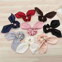 Scrunchie Women Hair Scarf Elastic  Hairband Bow Rubber Ropes Girls Ties Accessories