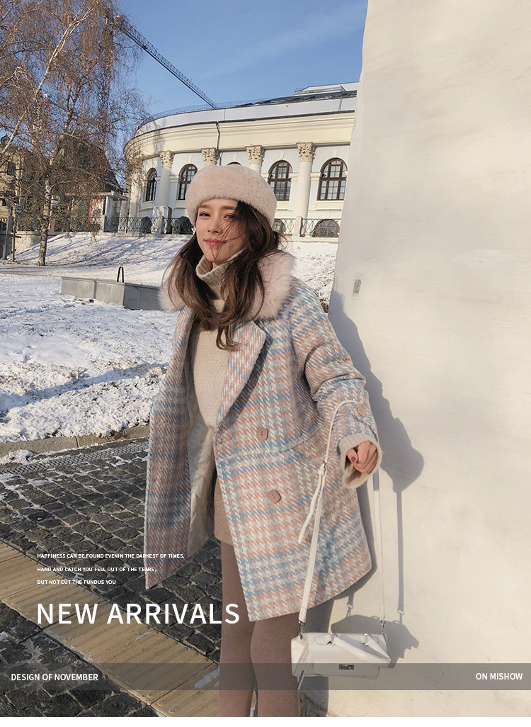 Mishow 19 Women Coat outerwear winter clothing fashion warm woolen blends female elegant Double Breasted woolen coat MX18D9679 1