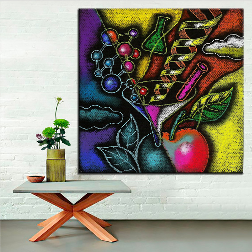 Large size Printing Oil Painting organic food Wall painting Home ...
