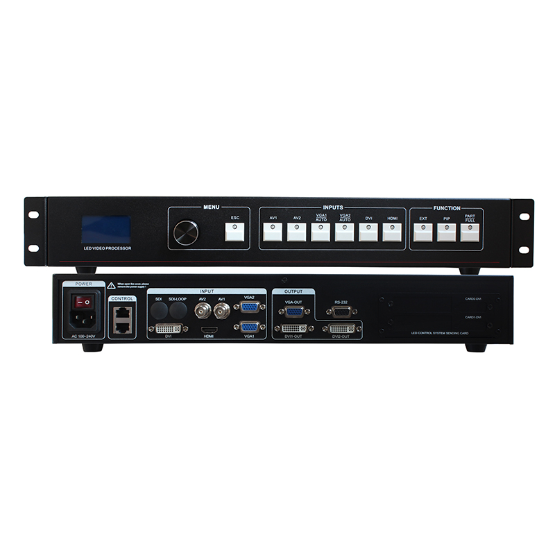 Free Shipping LED Video Processor Scaler DVI VGA HDMI LED Video Wall Controller Support Nova And Linsn