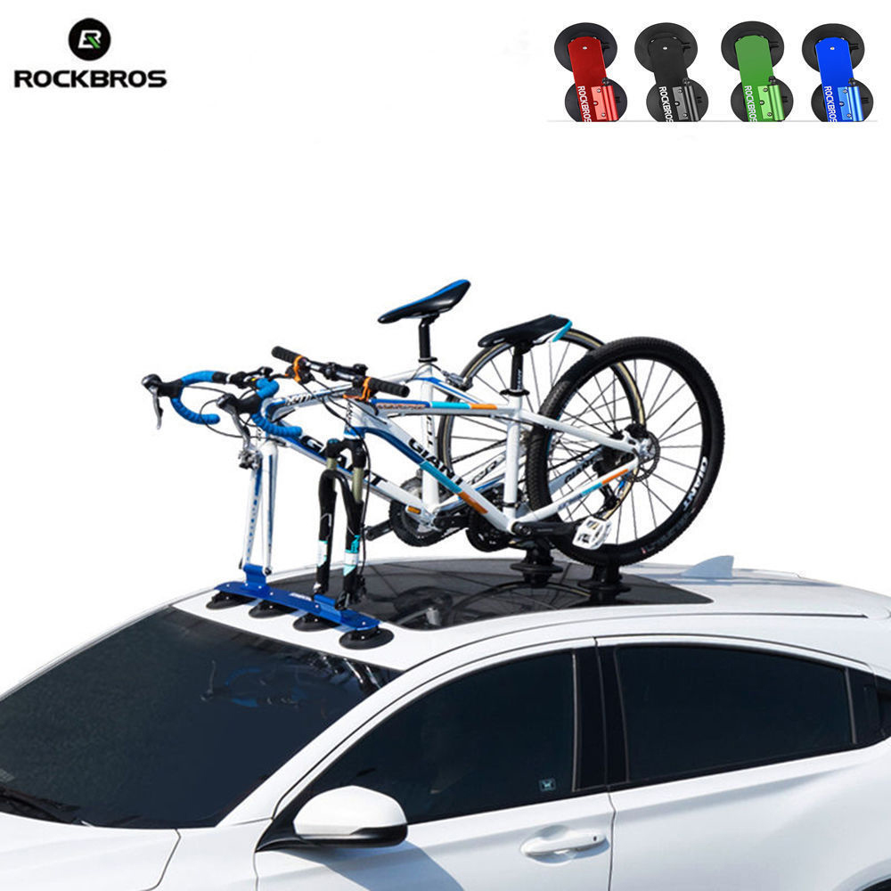 ROCKBROS Bicycle Rack Roof-Top Suction Bike Car Racks Carrier Quick Installation Roof Rack For MTB Mountain Road Bike Accessory teaegg top roof rack side rails luggage carrier for hyundai tucson ix35 2010 2014