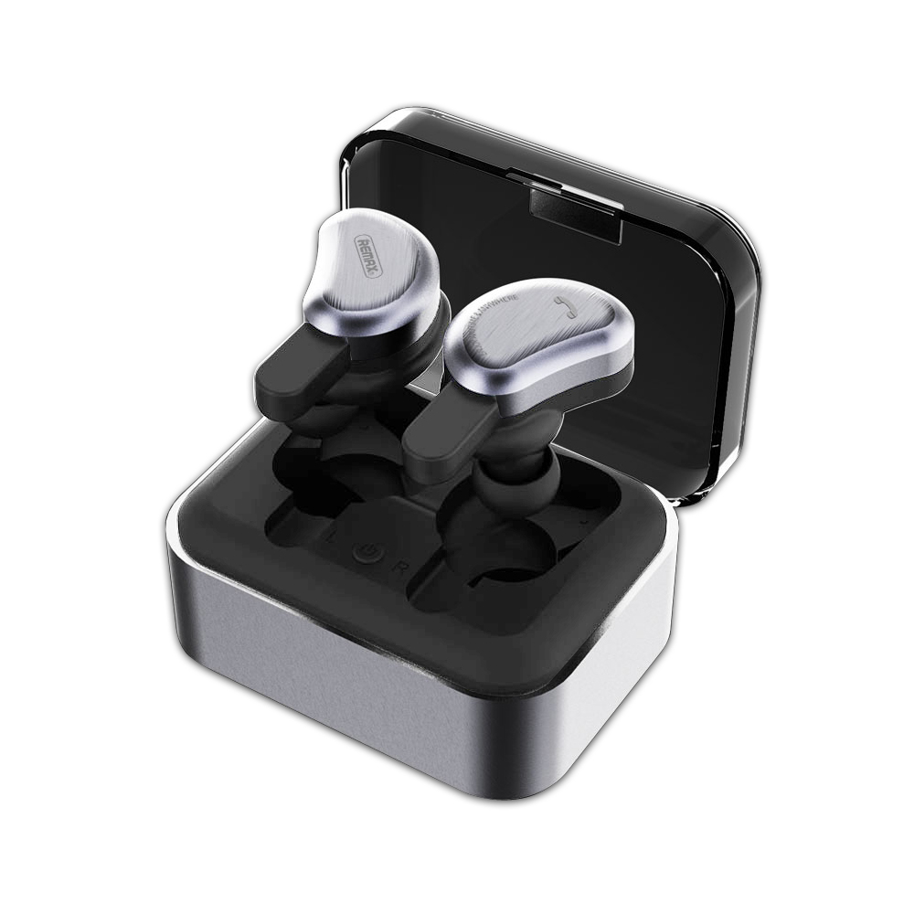 Original Remax Bluetooth earphone wireless 3D stereo In-Ear headset and power bank with microphone handsfree calls TWS Наушники