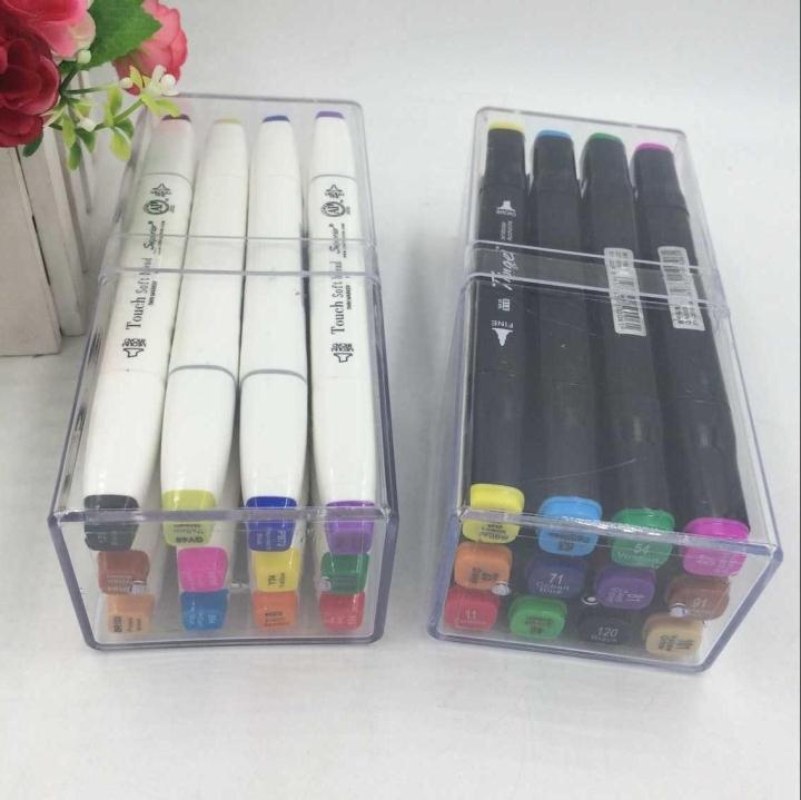 Livraison gratuite POP 12 couleurs Double extrémité affiche étudiants dessiner bureau à base d'eau couleur marque stylo beaux-Arts stylo