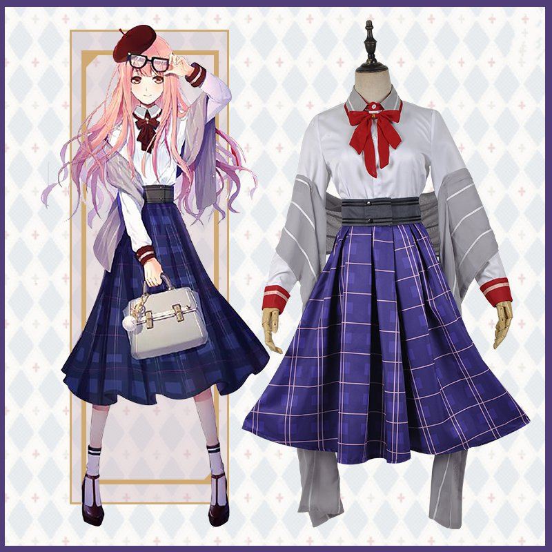 Game Miracle Nikki Nikki Daily Suit Lovely School Uniform Cosplay Costume For Women  Halloween Costumes For Women Adult