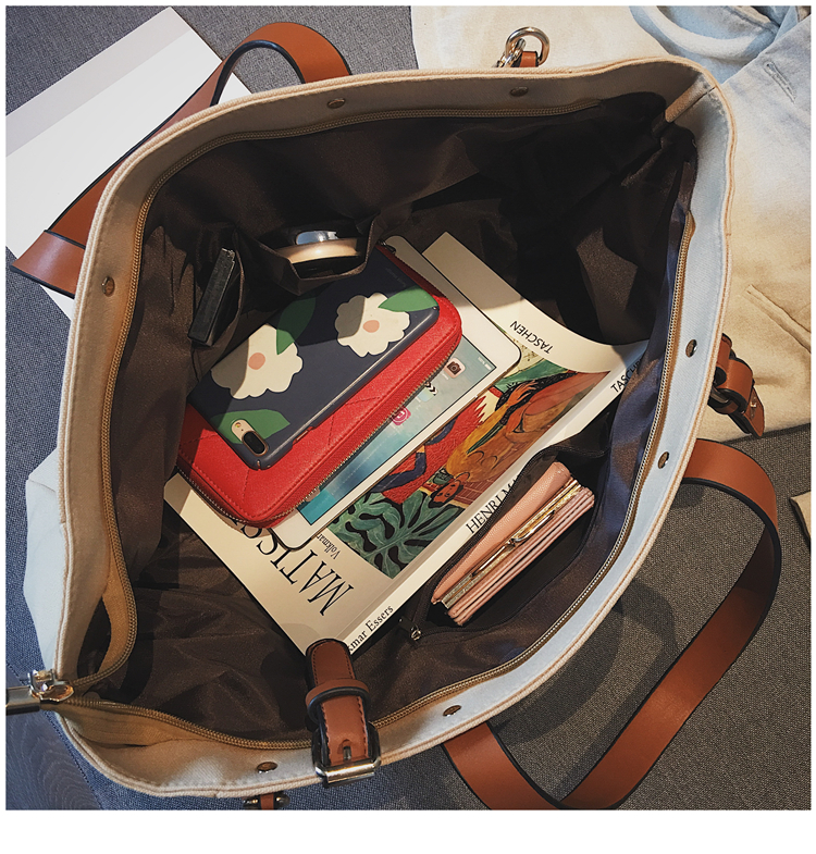 Luxury Ladies Bags Canvas Fashion Large Capacity Tote Bags Letter Shoulder Messenger Bags for Women 2018 Casual Tote Luis Vuiton 20