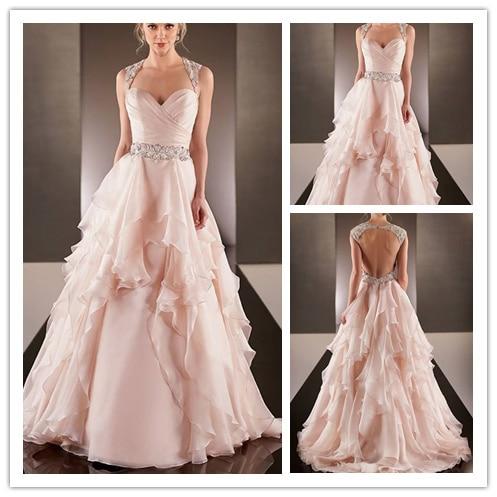 2015 Famous Design Peach Colored Wedding Dresses Rental Wedding ...