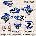 WR YZ YZF 125 250 400 450 Команда Графика Фоны наклейки Наклейки Двигателя кроссового Мотоцикла Байк MX Racing Parts YGR032