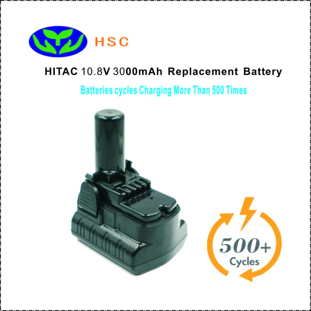 3 0Ah 18650 battery pack HIT10 8 Li ion Battery 10 8V Replacement HITAC BCL1015 BCL1030