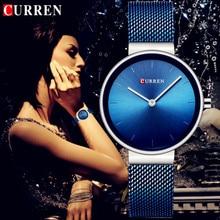 CURREN Wrist Watch Women Watches Luxury Brand Steel Ladies Blue Quartz