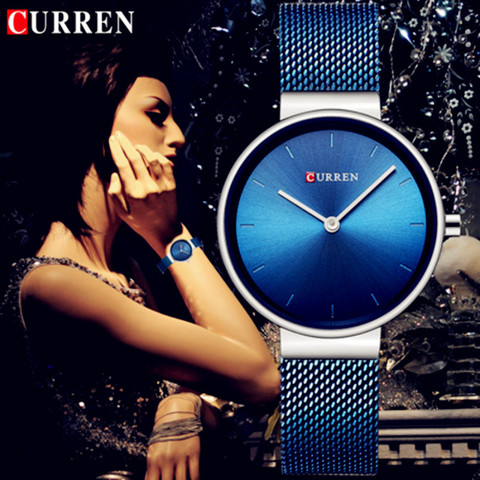 CURREN Wrist Watch Women Watches Luxury Brand Steel Ladies Blue Quartz Women Watches Sport Relogio Feminino Montre Femme 9016 Pakistan