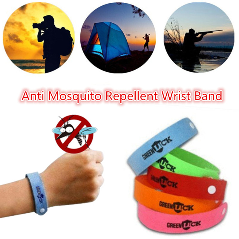 10pc Anti Mosquito Bug Repellent Wrist Band Bracelet Insect Nets Bug Lock Camping Safer Anti Mosquito Bracelet Kids Skin Care