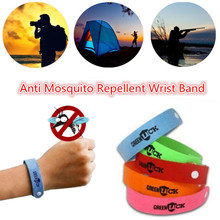 10pc Anti Mosquito Bug Repellent Wrist Band Bracelet Insect Nets Bug Lock Camping safer anti mosquito bracelet Kids Skin Care(China)