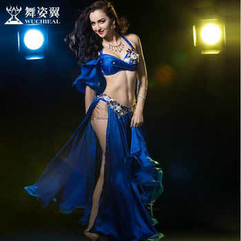 New 2017 high quality Belly Dance Costume Dresses Sexy Tops+Skirt stage Performance Suits Outfits Clothes M/L 4 colors available - DISCOUNT ITEM  5% OFF Novelty & Special Use