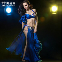 New 2017 high quality Belly Dance Costume Dresses Sexy Tops+Skirt stage Performance Suits Outfits Clothes M/L 4 colors available