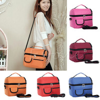 Thermal Insulated Waterproof Shoulder Picnic Cooler Lunch Bag Storage Box Tote