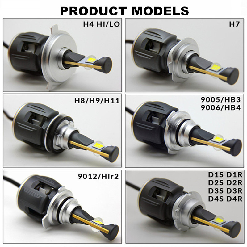Image 5 - INLONG H7 H4 Car LED Headlight Bulbs H11 Led H1 9005 HB3 9006 HB4  D4S D2S D1S  D3S  X70 Chips 15600LM Headlamp Fog Lights 6000K-in Car Headlight Bulbs(LED) from Automobiles & Motorcycles