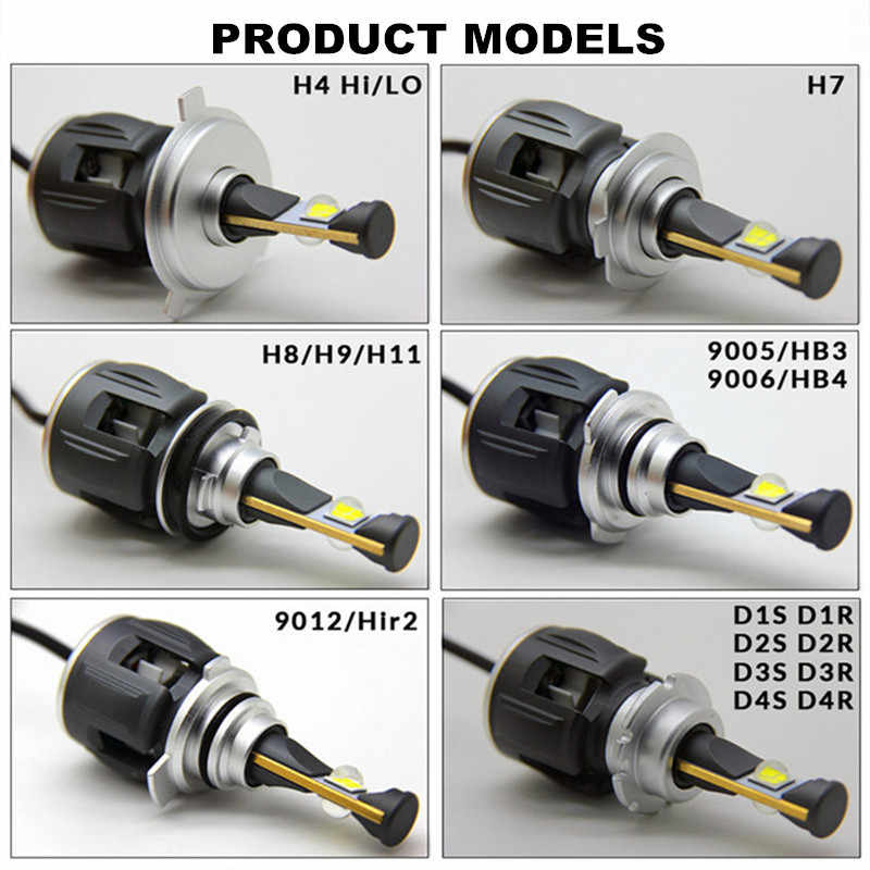 X70 Car H4 H7 led H1 9005 hb3 9006 hb4 LED Headlight Bulb H11 Led H8 D1S D2S D4S Auto Led Lamp 15600LM  Headlamp Fog Light 6000K