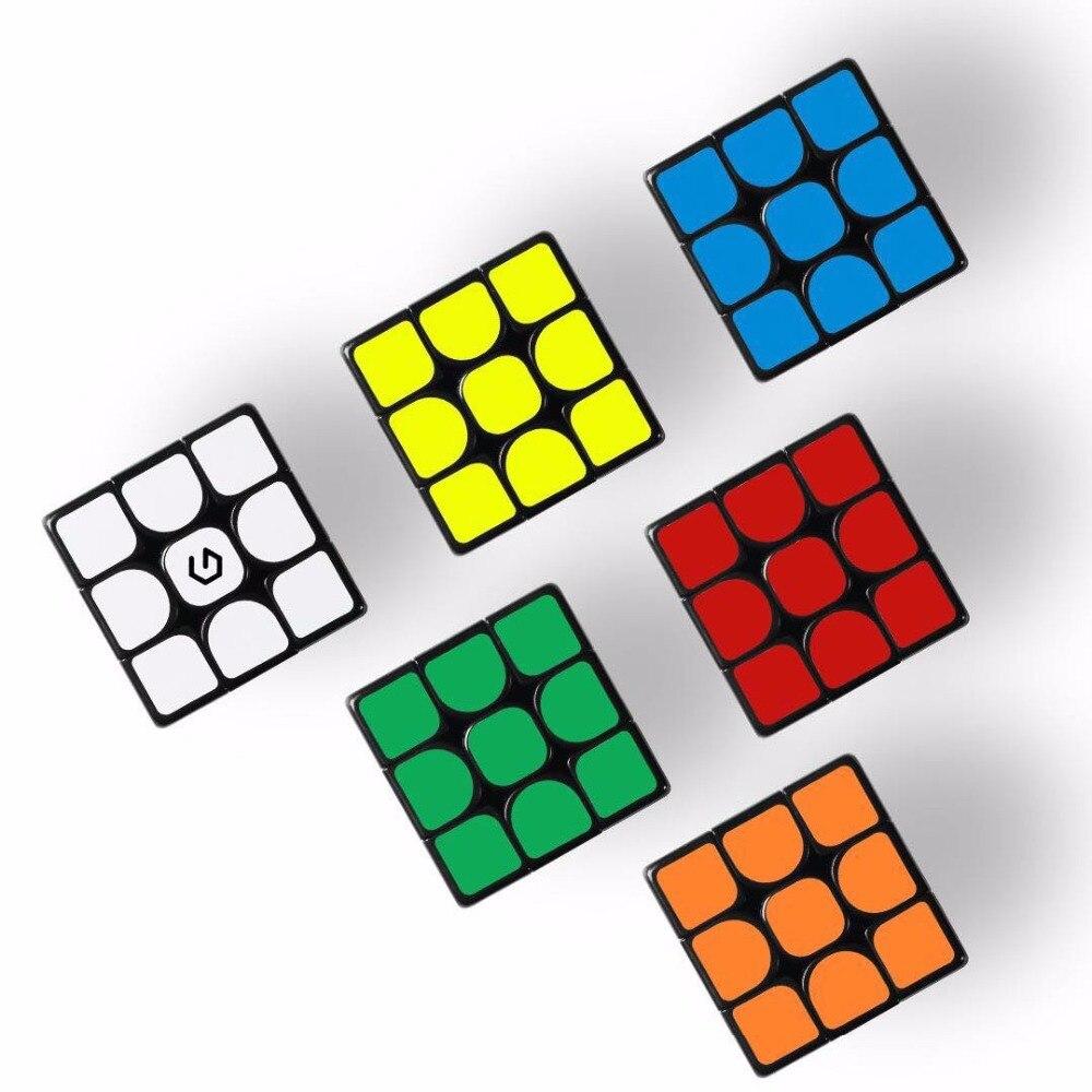 Original Xiaomi Mijia Giiker M3 Magnetic Cube 3x3x3 Vivid Color Square Magic Cube Puzzle Science Education Work With Giiker App
