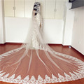 In Stock Ready High-End New 3M Cathedral Long Wedding Veils Special Appliques Bridal Veil Wedding Accessories Bride Wedding Veil