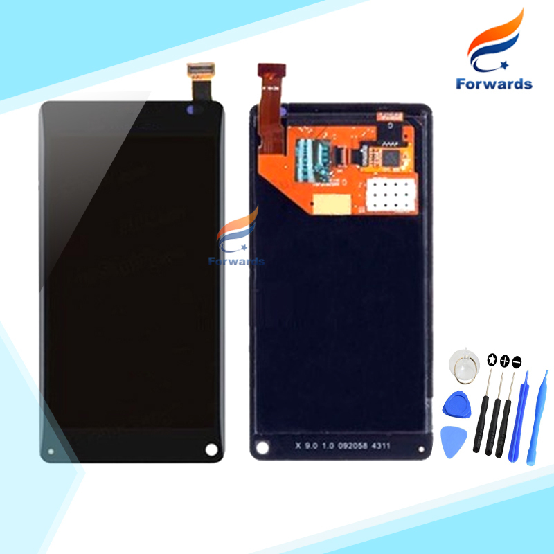 100% New tested Black for Nokia N9 LCD Display with Touch Screen Digitizer + Free Tools assembly 3.9 inch 1 piece free shipping 100% tested new lcd screen for jiayu s1 lcd display digitizer touch screen assembly black free shipping