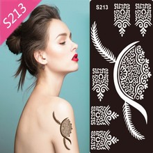 1pcs 47Styles Glitter Tattoo Stencil For Body Art Painting Pattern Airbrush Temporary Tatoo Kit Supplies
