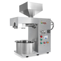 Commercial oil extractor Semi Automatic Oil Press Machine cool&hot pressed stainless steel coconut Factory outlet CE