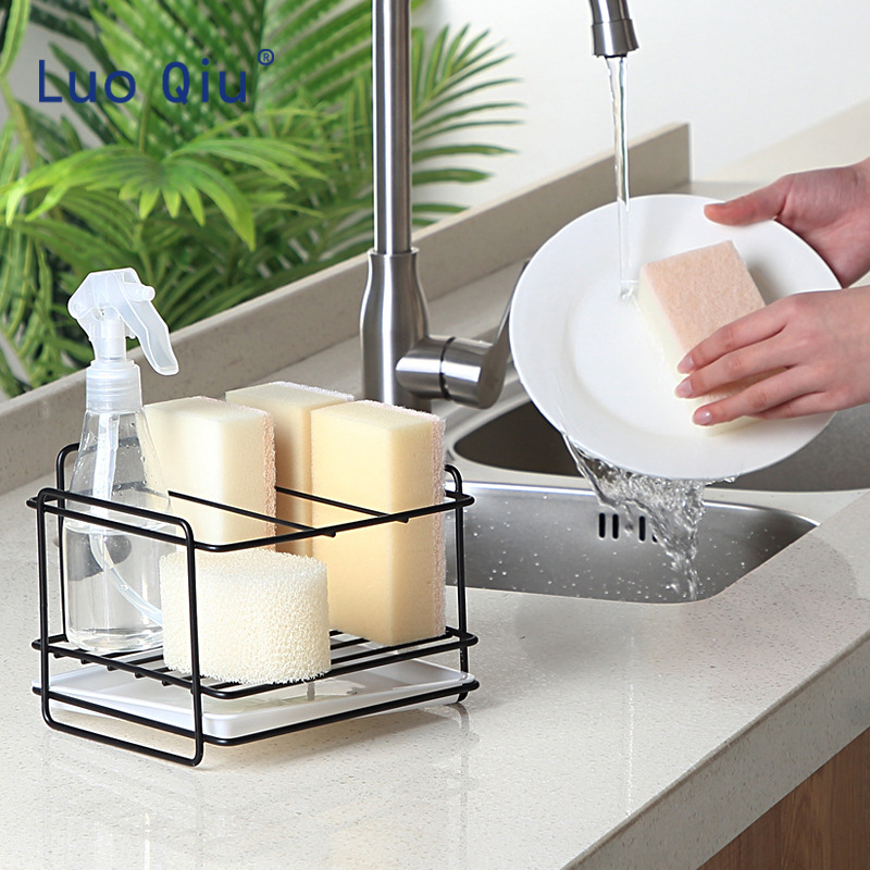 Wall Mounted Kitchen Rack Stainless Steel Self-Adhesive Bathroom Rack Holder Kitchen Storage Shelf Hanger Organizer