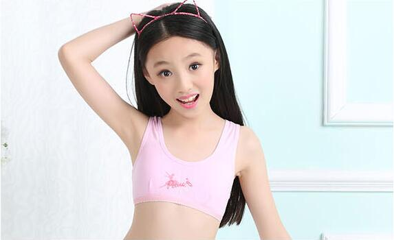 Teen Girl Cotton Bra Kids Seamless Underwear Young Lady Sports Training Bra Student -5263