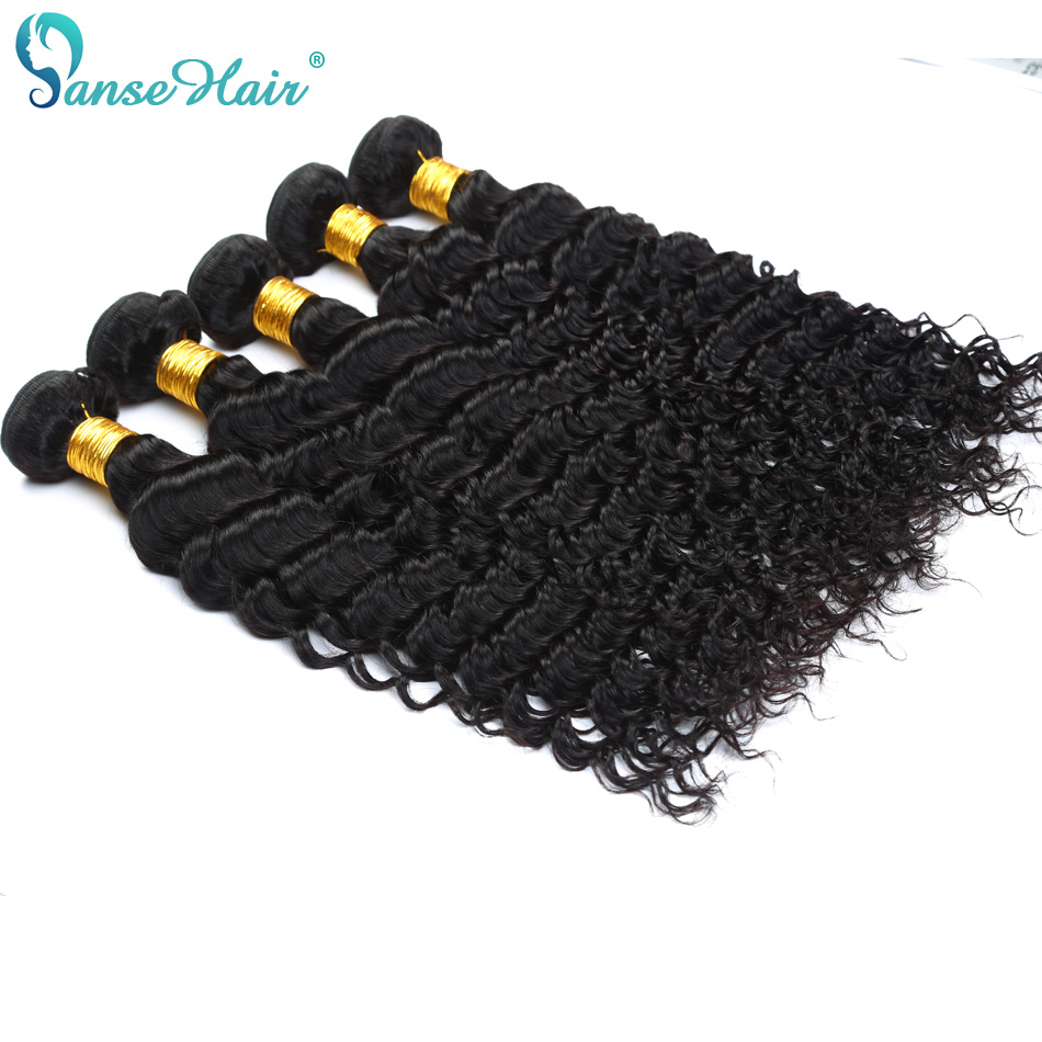 Panse Hair Indian Deep Wave Curly Hair Weaving 100% Human Hair Extension 3 Bundles Per Lot 100 g 1B Hair Bundles