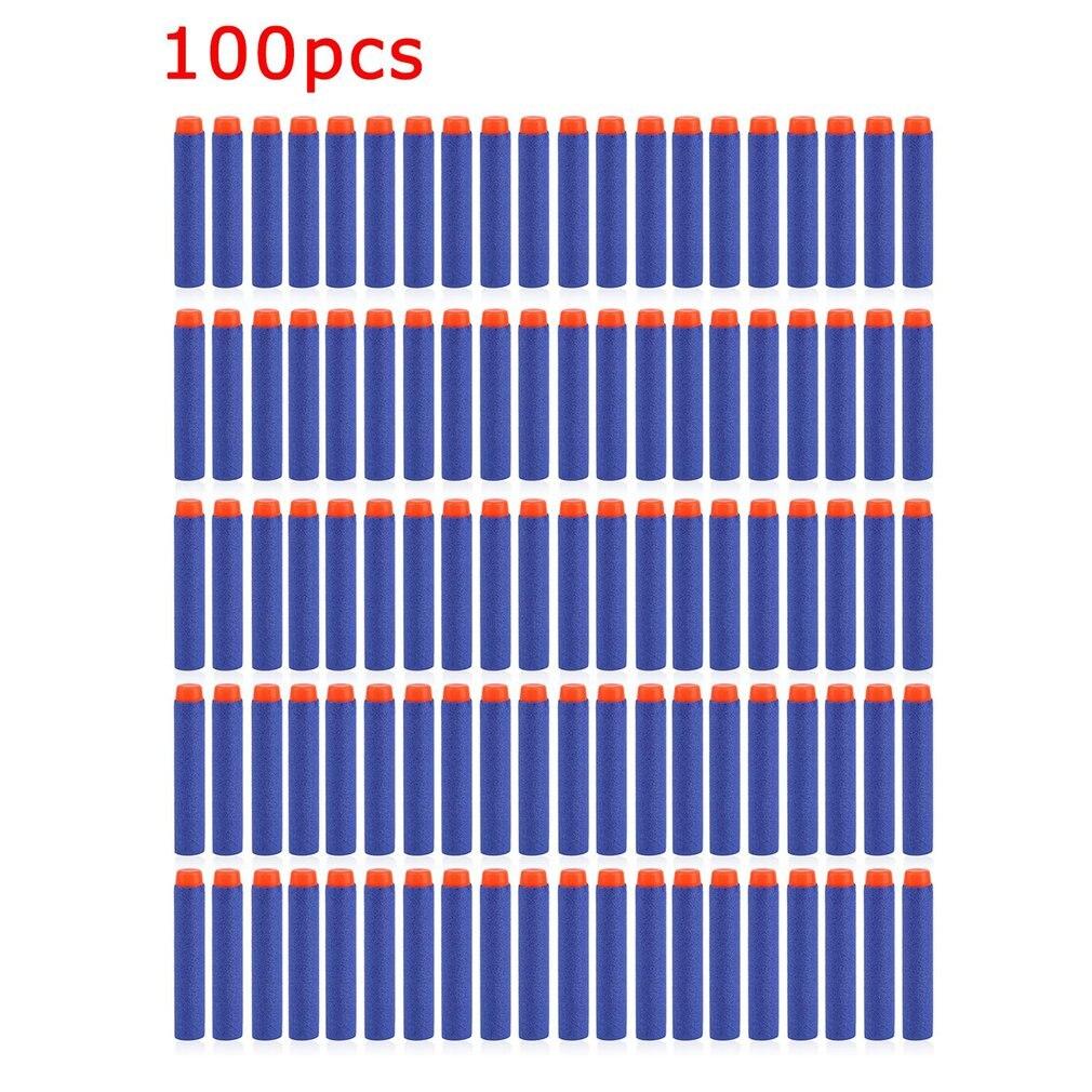 50/100 Uds. Pistola de aire suave ligera, balas, dardos de bala Eva para NERF n-strike Series, disparadores, Chico, pistola de juguete Objetivo eléctrico de reinicio automático de puntaje de alta precisión DIY para Nerf gun accesorios juguetes para deportes de diversión al aire libre regalos de Año Nuevo TSLM1