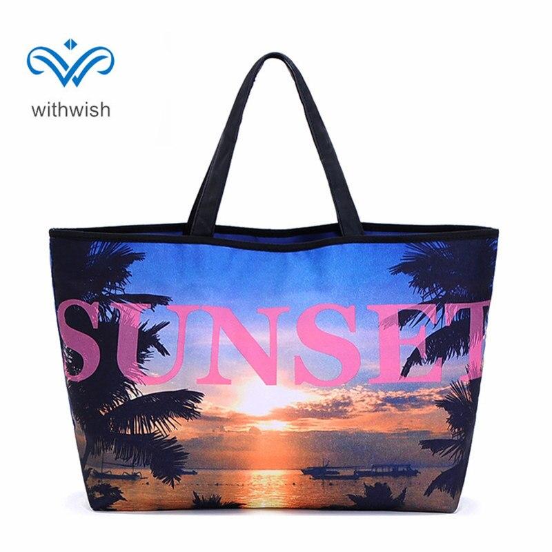 Large Capacity Female Bag Multifunction Waterproof Beach Bag Tote Bag Flax Fiber Women Handbags 5 Personalise Patterns Available сумки для детей zipit сумка premium tote beach bag